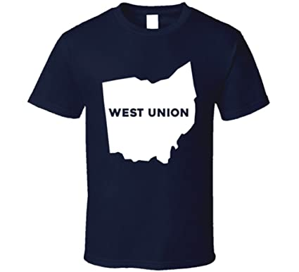 Union Ohio Map.Amazon Com West Union Ohio City Map Usa Pride T Shirt Clothing
