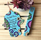 Personalized Hebrew Name Hamsa Jewish Baby Naming Nursery Gift, Add On Mezuzah Available