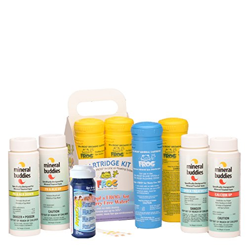 Spa Frog Cartridge Refill Kit (In-Line or Floating System) - FREE Test Strips Included (Care Of Frogs)