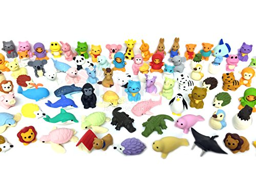 Pencil Eraser Animal Collection IWAKO Japanese Erasers (Pack of 20) Unicorn included -