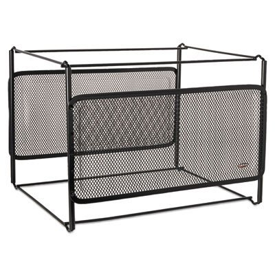 Letter Size Mesh File Frame Holder, Wire, 12 3/8 x 11 3/8 x 9 5/8, Black ()