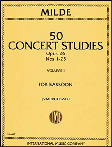 Fifty Concert Studies, Op. 26 for Bassoon: Advanced Bassoon Collection (Kalmus Edition)