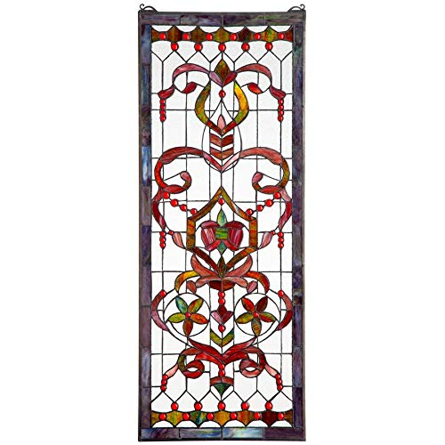 Stained Glass Panel - Delaney Manor Stained Glass Window Hangings - Window Treatments