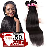 Mink 8A Brazilian Virgin Hair Straight Remy Human Hair 4 Bundles Deals (22'' 24'' 26'' 28'') 100% Unprocessed Brazilian Straight Hair Extensions Natural Color Weave Bundles