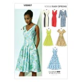 Vogue Patterns V8997 Misses' Dress Sewing Template, Size A5 (6-8-10-12-14)