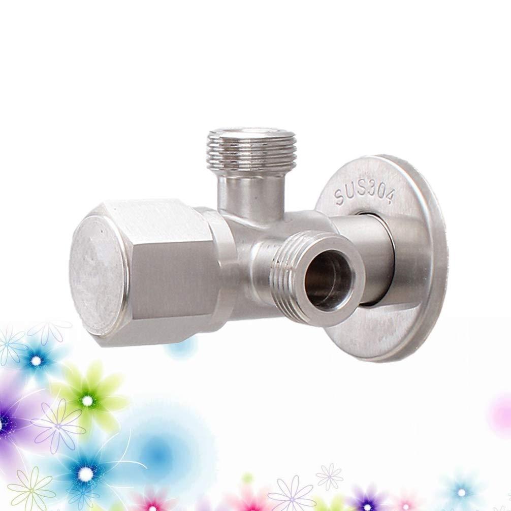 per uso prolungato cucina casa TOPBATHY Valvola adattatore a T in acciaio inox 304 con finitura in nichel spazzolato per bagno