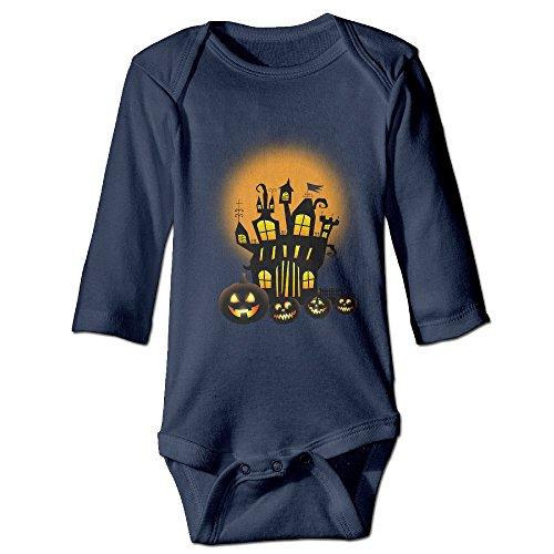 ElishaJ Halloween Babys Unisex Long Sleeve Jumpsuit Outfits Navy Size 18 Months (Halloween Jon Bellion)