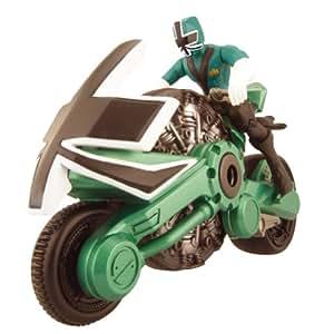 bandai power ranger samurai figura 10 cm y moto color verde juguetes y juegos. Black Bedroom Furniture Sets. Home Design Ideas