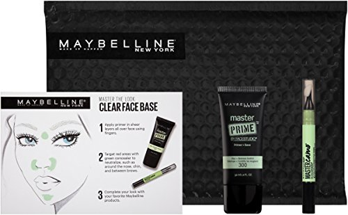 Maybelline New York Ny Minute Primer Color Corrector Green Makeup Gift Set, Clear Face Base (Color Corrector A For)