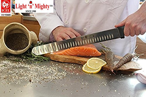 12-inch Blade Granton Edge, Turkey, Salmon, ham Slicer, Meat Slicing Knife. NSF Certified, German Steel,Knife sharpening instruction included, Best Knife to Slice Large Roast and Whole Turkey. by Icel (Image #2)