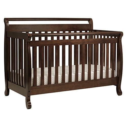 DaVinci Emily 4-in-1 Convertible Crib in Espresso (Da Vinci Sleigh Toddler Bed)