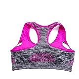 Fulltime(TM) Women Sexy Fitness Bras Shirt Padded Push Up Wireless Bra (Medium, Red)