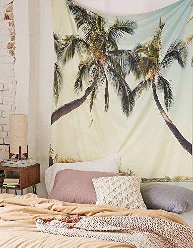 Sea Beach Tapestry Blue Sky Scenery Sunshine Wall Hanging Bedspread Home Decor