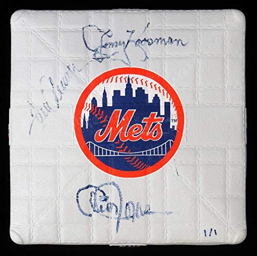 Tom Seaver Jerry Koosman Cleon Jones 1969 New York Mets Signed Mini Base - MLB Autographed Miscellaneous Items