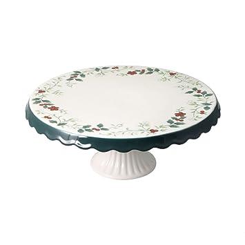 Pfaltzgraff Winterberry Round Cake Plate  Inch X 4