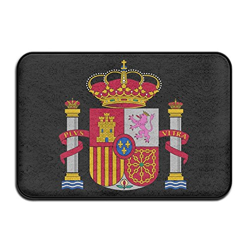 Fuucc-6 Inside & Outside Floor Mat Spain Flag Design Pattern For Dining by Fuucc-6
