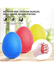 Peradix Hand Exercise Stress Relief Balls, Hand Grip Strengthener balls Finger Therapy Squeeze Training for adults and Children/kids-Set of 3 Resistance