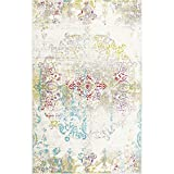 Home Dynamix Boho Makenna 6'6'' x9'6 Area Rug Ivory/Multi-Colored