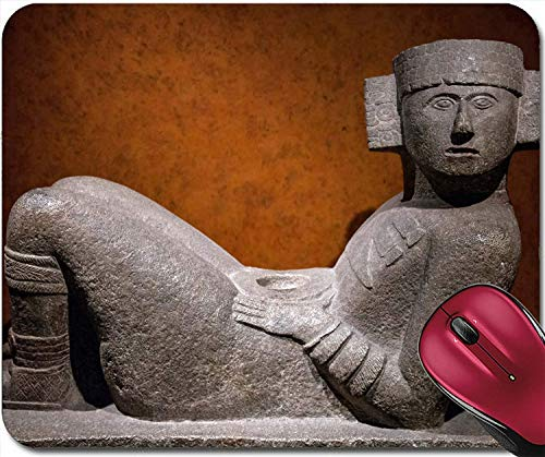 HZMJPAD 8.6 X 7.1 Mouse pad Mouse Mat Image ID: 16765679 Chac Mool is The Name Given to a Type of Pre Columbian Mesoamerican Stone Statue The Chac Mool depicts a hum ()