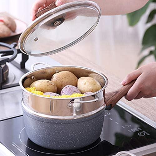 51bJ5AvHsmL. AC DOITOOL Stainless Steel Steamer Pot Vegetable Food Steamer Basket Insert Kitchen Saucepot Dim Sum Dumplings Bun Steamer 18cm     Description