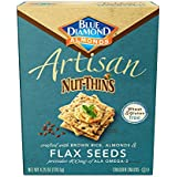 Blue Diamond Gluten Free Artisan Nut-Thins Cracker Crisps, Flax Seeds, 4.25 Ounce