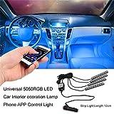 YTYC Universal 5050RGB LED Car Interior ecoration Lamp Phone APP Control Light
