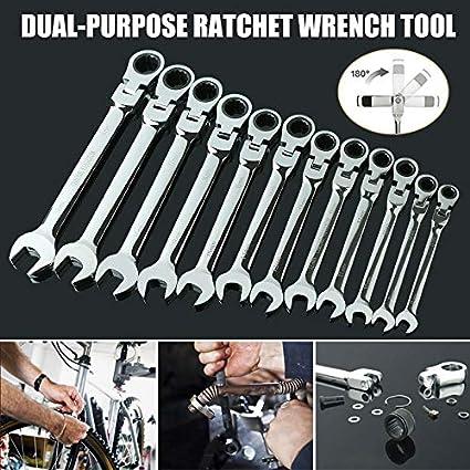 WZDTNL Llave combinada Llaves Flexibles para Bicicleta Engranajes de torsi/ón Herramientas de trinquete de Actividades 27 mm