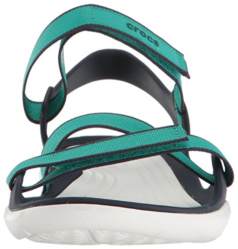 Teal Swiftwater Crocs Webbing Women Croslite Sandal Tropical XZwq6x4w