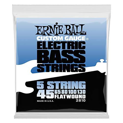 Ernie Ball Flatwound 5-string Bass Set, .045 - -