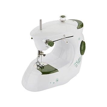 Myhope Portable mini máquina de coser doméstica eléctrica Luz LED de ajuste de la velocidad de