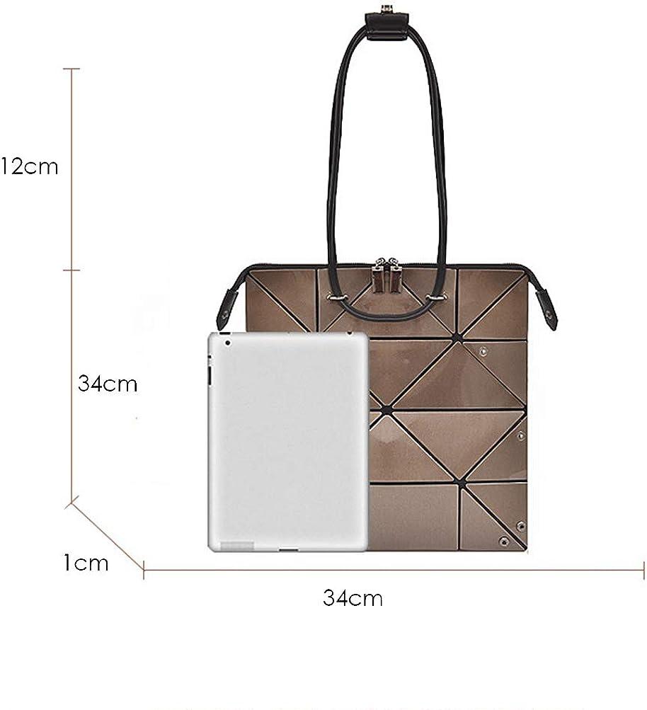 LASERIPLF Geometric Rhombus HandbagPU-Leder Geprägte HandtascheTote BagPatternShopping Bags Verstellbare UmhängetascheHandle Bags Einfarbige Handtaschen Umhängetaschen Faux Tote 6