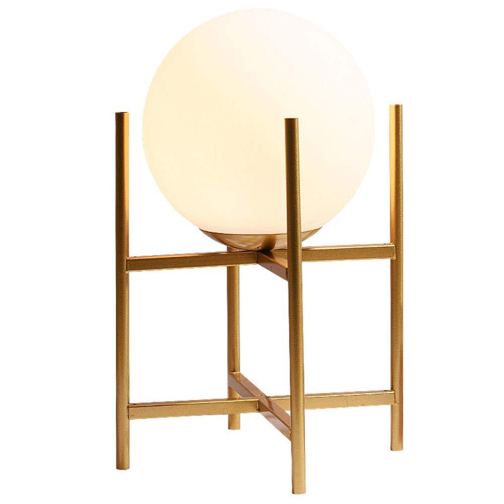 Lámpara de mesa con forma de bola, soporte para lámpara de oro ...