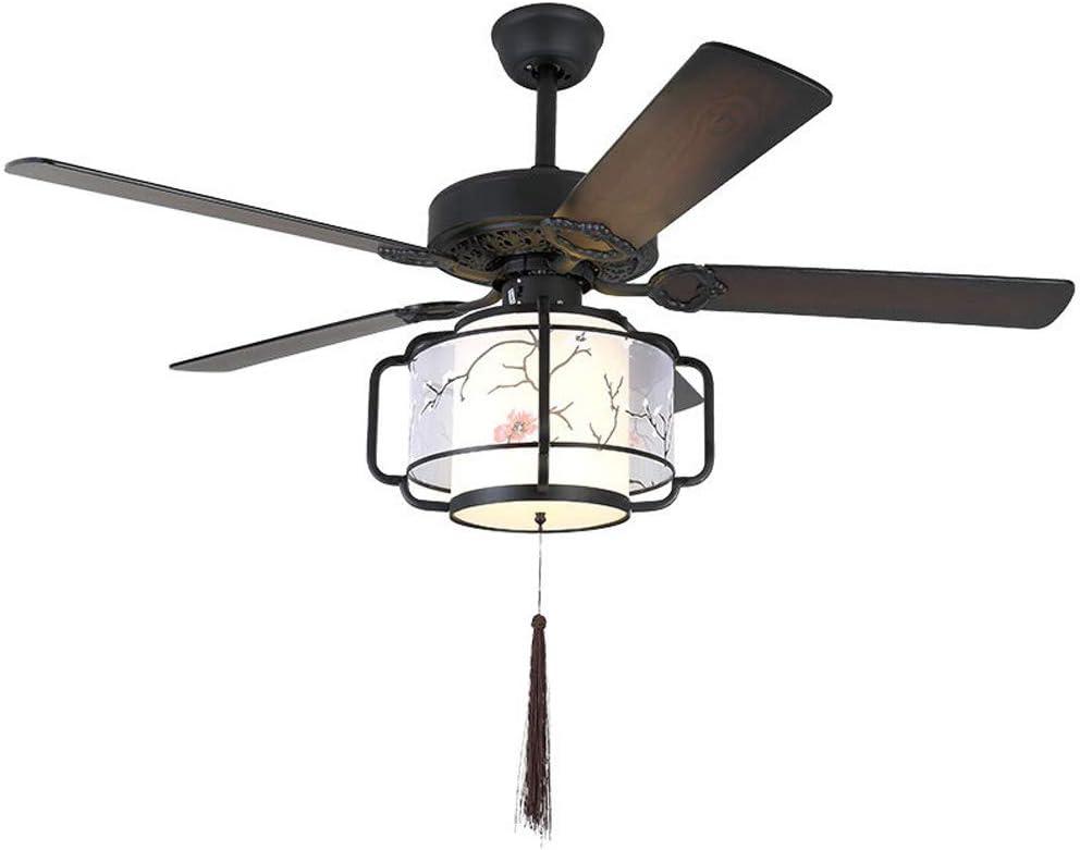 LXHK Ventilador de Techo con Iluminación Invisible LED Silencioso Lámpara de Techo con Fan, 5 Aspas de Madera, Mando a Distancia, 130 cm de Diámetro, 3 Velocidades, Temporizador