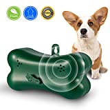 Upgraded Mini Bark Control Device Outdoor Anti Barking Ultrasonic Dog Bark Control Sonic Bark Deterrents Silencer Stop Barking Bark Stop Repeller (Green)