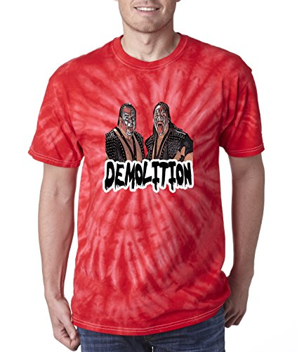 Silo Shirts TIE DIE RED Demolition WWF T-Shirt ADULT by Silo Shirts