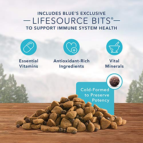 Blue Buffalo Wilderness Rocky Mountain Recipe High Protein Grain Free, Natural Adult Large Breed Dry Dog Food, Red Meat 22-lb