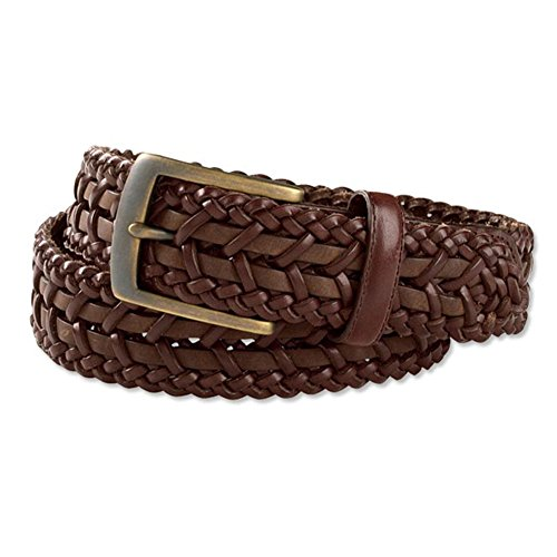 [Orvis Men's St. Tropez Braided-leather Belt, 34] (Orvis Braided Belt)