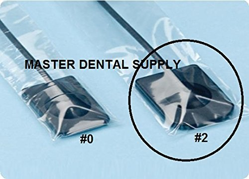 Dental X-Ray Digital Sensor Sleeves Cover #2 - 1 5/8'' W x 8 3/8''L - LARGE Size 500 Pcs/box CLEAR