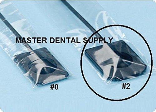 "Dental X-Ray Digital Sensor Sleeves Cover #2 - 1 5/8"" W x 8 3/8""L - LARGE Size 500 Pcs/box CLEAR"