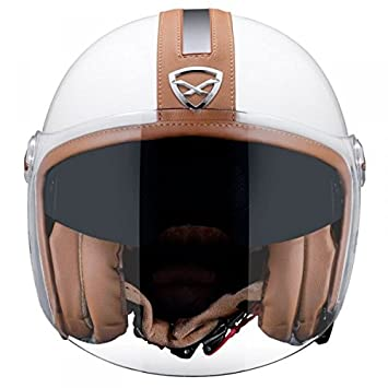 Casco Nexx X70 Groovy – XL – blanco/marrón -