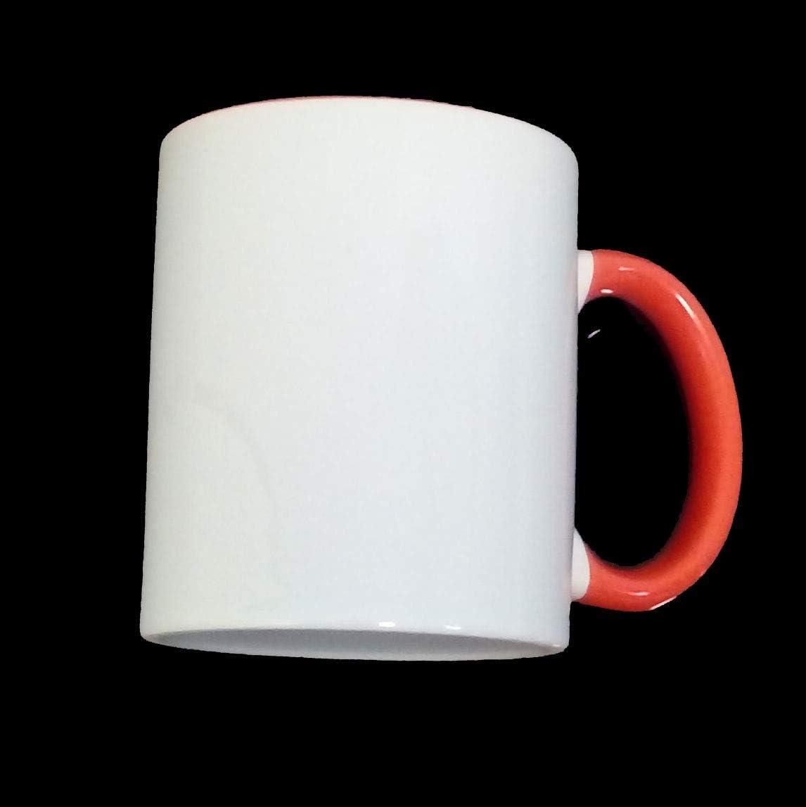 Sublimation Lot de 36 Tasses à café mug Blanc - Anse Orange ...