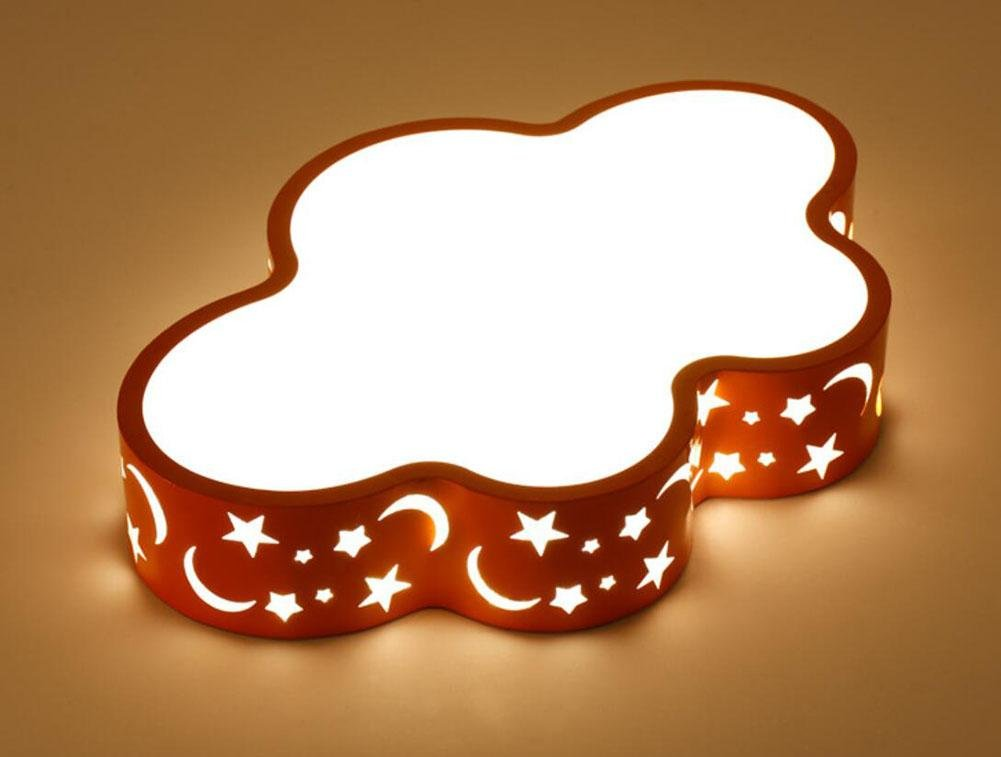 GFFORT LED light Cartoon clouds light lovely BABY Creative CHILDREN'S room light and welcoming rooms for boys and girls to Ceiling lamp lights (580410100MM) kindergarten 36W Three color light,A