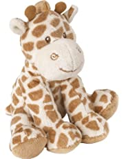 Suki Baby Small Bing Bing Soft Boa Plush Rattle with Embroidered Accents (Giraffe)