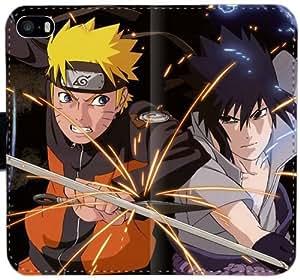Caja del cuero de Naruto Vs Sasuke Tmk B8B6S Funda iPhone 5 5S 5SE funda 12eW0R duros funda caso del tirón del teléfono