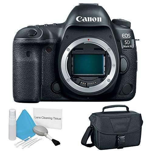 Canon EOS 5D Mark IV Full Frame Digital SLR Camera Body - Bundle with Canon Carrying Bag + Cleaning Kit (Best Entry Level Full Frame Dslr)