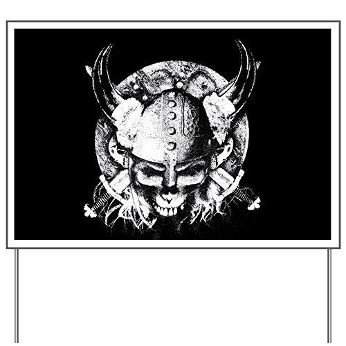 Yard Sign Helmet Sword and Skull