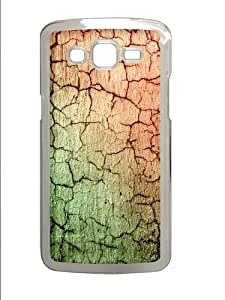Cracked Concrete abstract Polycarbonate Hard Case Cover for Samsung Grand 2/7106 Transparent