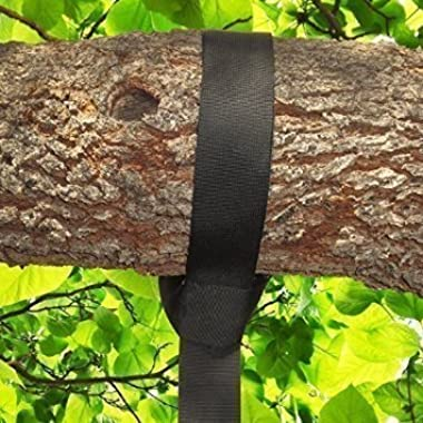 Tree Swing Hanging Strap Kit By Royal Oak Tree Swings - One 48 Inch Strap With Safer Screw Lock Snap Carabiner Hook - Perfect For Tire and Disc Swings - Holds Up To 500 Lbs and is 100% Waterproof