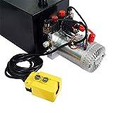 Fisters Hydraulic Power Unit 15 Quart Double Acting Hydraulic Pump DC 12V Power Unit Metal Reservoir for Dump Trailer Car Lifting