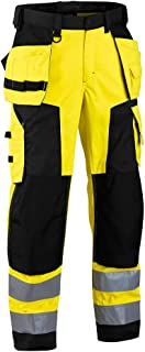 blakläder 156725173399d96Softshell Pantaloni Inverno classe 2, D96, giallo/nero